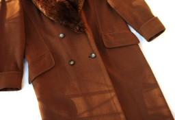 Ciepły Wełniany Płaszcz Elegancki 42 44