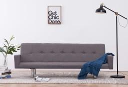 vidaXL Sofa rozkładana z podłokietnikami, taupe, poliester282226