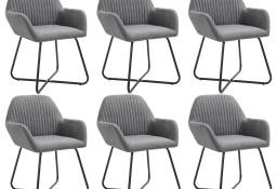 vidaXL Krzesła do jadalni, 6 szt., ciemnoszare, tapicerowane tkaniną277097