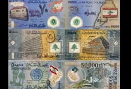 LIBAN 2013=2015-komplet 3 banknotów polimerowych UNC! GRATIS WYSYŁKA!