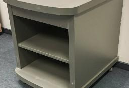 Szafka szara na kółkach pod drukarkę