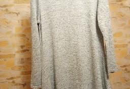 (38/M) ASOS/ Szara, rozkloszowana sukienka dzianinowa