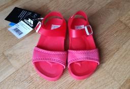 Sandały dziecięce czerwone rozmiar 24 wkładka 15,5cm