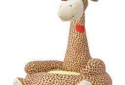 vidaXL Fotel dla dzieci żyrafa, pluszowy, brązowy80160