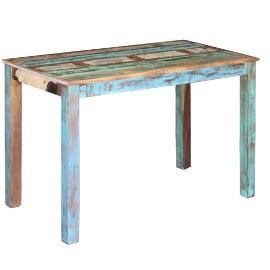 vidaXL Stół do jadalni z drewna odzyskanego, 115x60x76 cm 243451