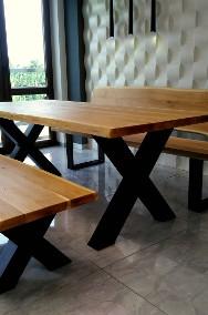Meble industrialne ,stół dębowy,ławka,do jadalni ,lokalu,restauracji-2
