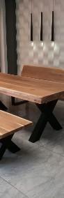 Meble industrialne ,stół dębowy,ławka,do jadalni ,lokalu,restauracji-3