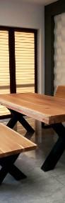 Meble industrialne ,stół dębowy,ławka,do jadalni ,lokalu,restauracji-4