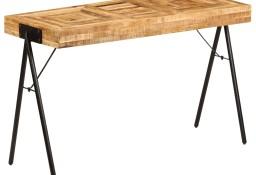 vidaXL Biurko z litego drewna mango, 118 x 50 x 75 cm 246338