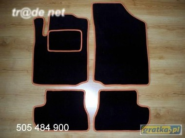 Citroen C2 od 2003r. hb najwyższej jakości dywaniki samochodowe z grubego weluru z gumą od spodu, dedykowane Citroen C2-1