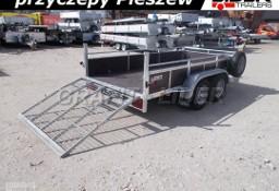 LT-101 przyczepa 320x150x45cm, rampa tylna, 2x oś hamowana 750kg, wzmacniana, DMC 750kg