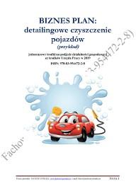BIZNES PLAN detailingowe czyszczenie pojazdów 2019 (przykład)