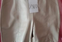 (40/L) ZARA/Skórzane szorty/ krótkie spodenki z Madrytu/ NOWE