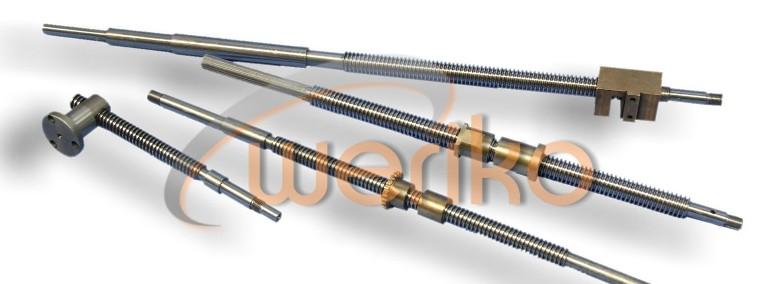 Śruba posuwu poprzecznego z nakrętką tokarki TUG40 części zamienne *WERIKO* 603-860-550-1