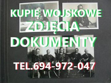 KUPIE WOJSKOWE STARE DOKUMENTY,ZDJĘCIA,LEGITYMACJE TELEFON 694972047