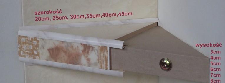półka styropianowa łazienkowa narożna TR 30x30x4cm -1