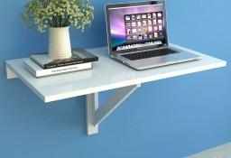 vidaXL Składany stolik na ścianę, biały, 100 x 60  243054