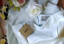 (38/M) ASOS/ Błękitna sukienka ołówkowa/ hiszpanka/odkryte ramiona/ jak NOWA