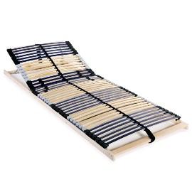 vidaXL Stelaż do łóżka z 42 listwami, drewno FSC, 7 stref, 90x200 cm 246469