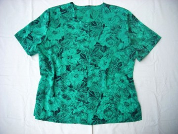 Elegancka Koszula Zielona Wytłaczana 44 46