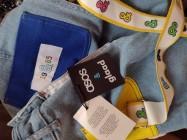 (36/S) ASOS/ Dżinsowe spodnie, szorty typu ogrodniczki/NOWE
