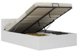 vidaXL Rama łóżka z podnośnikiem, biała, sztuczna skóra, 140 x 200 cm285519