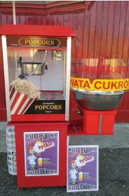 Zestaw maszyn do waty cukrowej i popcornu, Wata cukrowa + Popcorn, ATEST-2