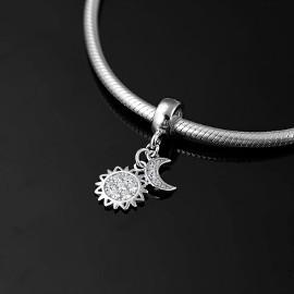 Pandora Charm zawieszka słońce księżyc