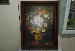 """Obraz Jan Brueghel """"Waza z kwiatami"""".Reprodukcja uszlachetniona, rama w całości"""