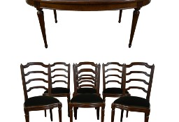 Stylowy komplet mebli owalny stół i 6 krzeseł krzesła stylowe