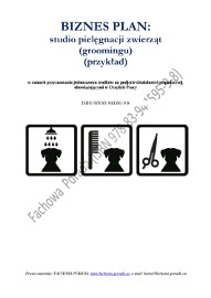 BIZNESPLAN na założenie studia pielęgnacji zwierząt (groomingu) 2016