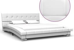 vidaXL Rama łóżka, biała, sztuczna skóra, 200 x 140 cm 280624