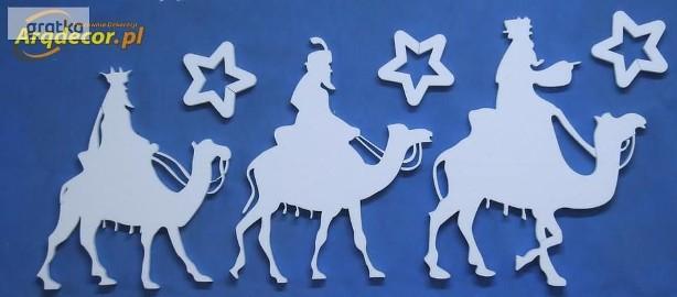 Trzej Królowie - dekoracje na jasełka, świąteczne