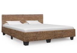 vidaXL Rama łóżka, naturalny rattan, 180 x 200 cm 283096