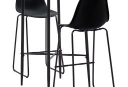 vidaXL 3-częściowy zestaw mebli barowych, plastik, czarny279921