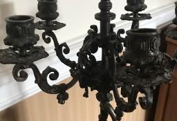 UNIKAT -> Rzeźba w brązie / świecznik Lady