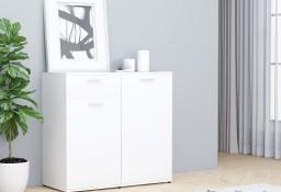 vidaXL Szafka, biała, 80x36x75 cm, płyta wiórowa801823