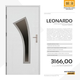 Drzwi zewnętrzne stalowe SETTO model LEONARDO 92