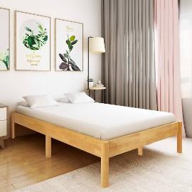 vidaXL Rama łóżka z litego drewna dębowego, 140 x 200 cm288479