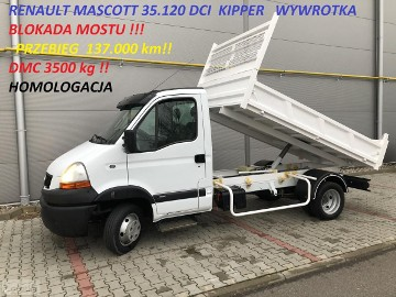 Renault Mascot MASCOTT 3.120 DCI KIPPER WYWROTKA BLOKADA MOSTU !!