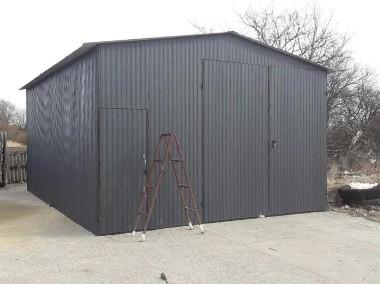 Garaż blaszany wzmocniony hala wiata 5x5 blacha kolor-1