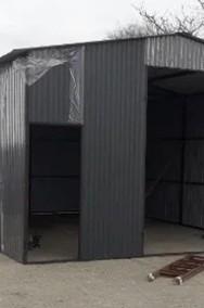 Garaż blaszany wzmocniony hala wiata 5x5 blacha kolor-2