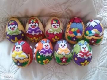 Wielkanocne pisanki wykonane z filcu * okazja *