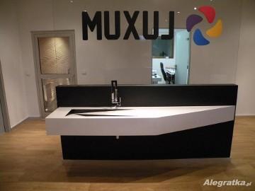 Nowoczesne umywalki z blatem na wymiar Szafki łazienkowe pod umywalkę LUXUM