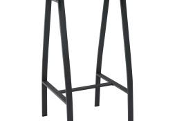 vidaXL Ogrodowy stolik barowy, czarny, 60x60x110 cm, szkło hartowane48120