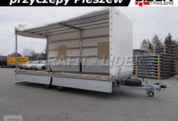 LT-038 przyczepa + plandeka 620x220x260cm, spedycyjna przyczepa ciężarowa, towarowa, 2 osiowa, DMC 3500kg