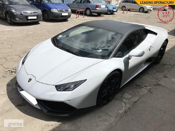 "Lamborghini Huracan LP610-4 Coupe VAT23 SalonPL ASO AWD Bianco Icarus Giano 20"" PAPIS"