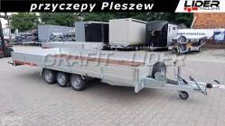 TM-269. przyczepa 511x215x30cm, Carplatform 5121/3S, burty alu, 3 osiowa, laweta, platforma, podłoga sklejkowa, DMC 3500kg Tema