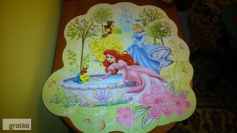 puzzle księżniczki 150 elementów stan idealny