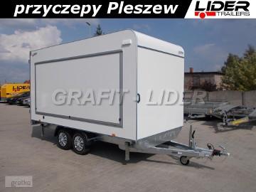 TP-059 przyczepa 420x200x210cm, kontener, furgon izolowany, TFSP 420T.00, drzwi tylne, DMC 2700kg